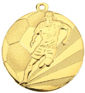 D112A  50MM Embossed Football Medal & Ribbon ( Box Qty 300 ) from only £141.00 = £0.47 each